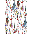 Feather and Bead pattern vector image vector image