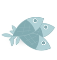 fish isolated on white background vector image vector image