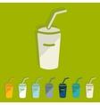 Flat design soda vector image