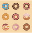 flat icon with chocolate vector image