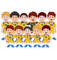 Football team cartoon vector image