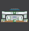 grand exhibition stand display mock up for vector image vector image