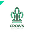 green leaves crown abstract logo design template vector image vector image