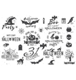 Halloween vintage icon emblem or label vector image vector image