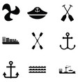harbor icon set vector image