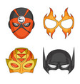 hero and mask logo set of vector image