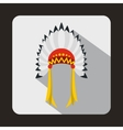 Indian headdress icon flat style vector image vector image