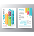 Isometric shape design Brochure Flyer Layout vector image vector image
