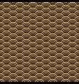japanese golden scales seamless pattern vector image