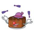 juggling brownies mascot cartoon style vector image vector image