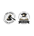 law office attorney lawyer logo or label vector image vector image