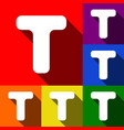letter t sign design template element set vector image vector image