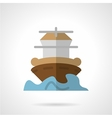 Marine vessel flat color icon vector image vector image