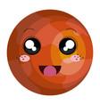 mars planet kawaii character vector image