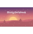 Merry Christmas and snowman landscape vector image vector image