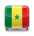 Metal icon of Senegal vector image