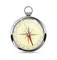 navigation compass gauge with metal frame vector image vector image