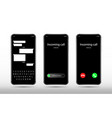 phone call and chat screen realistic smartphone vector image