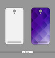 phone cover violet squares vector image vector image