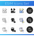 professional service icons set vector image vector image