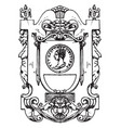 renaissance architectural frame was used as the vector image vector image