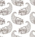 seamless hand-drawn Thanksgiving pattern vector image