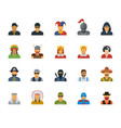 set different characters avatars vector image