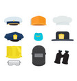 set of professional equipment isolated on white vector image vector image