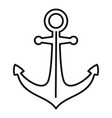 ship anchor icon outline style vector image
