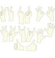 sketching hand gestures vector image