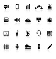 Sound icons with reflect on white background vector image vector image