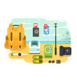 travel or vacation accessories flat design vector image vector image