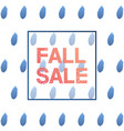 trendy rainy day autumn sale banner for poster vector image vector image