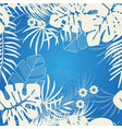 tropical nature background pattern design floral vector image vector image