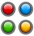 vintage glossy buttons vector image vector image