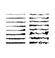 watercolor script brushes set vector image vector image