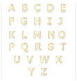 White and gold alphabet set a to z vector image vector image