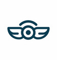 wings and eye in middle logo vector image