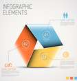 Abstract shape with Infographic vector image