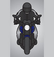 biker or driver mascot with motorcycle vector image