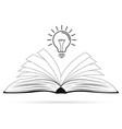 bright creative idea concept vector image