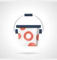 bucket of protein powder flat color icon vector image vector image