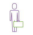 businessman holding briefcase standing character vector image