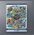cartoon colorful hand drawn doodles water sports vector image vector image