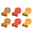 chinese mooncake for mid autumn festival vector image