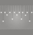 christmas lights lamp vector image vector image