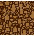 coffee seamless beige vector image vector image