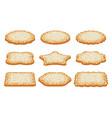 collection sugar shortbread cookies vector image vector image