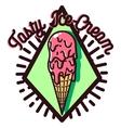 Color vintage Ice Cream emblem vector image vector image