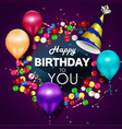 colorful balloons happy birthday vector image vector image